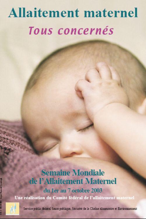 Affiche de la semaine de l'allaitement maternel de 2003