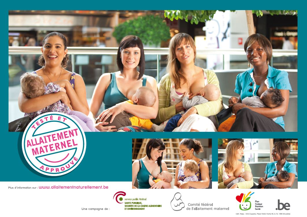 Affiche de la semaine de l'allaitement maternel de 2014