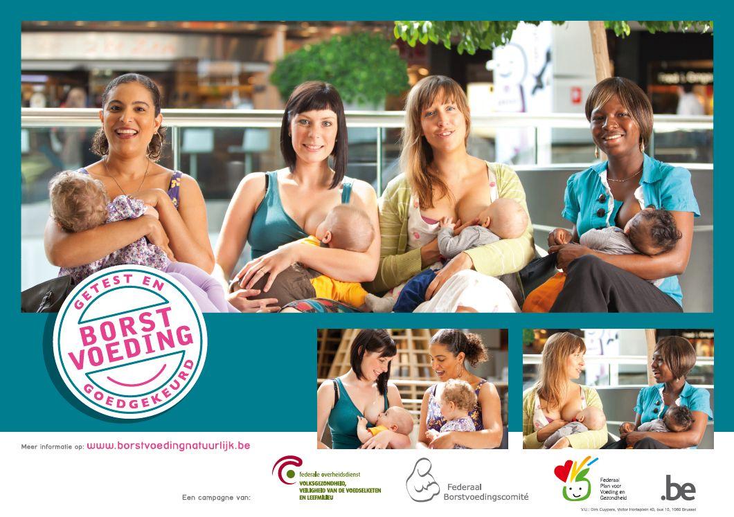 Affiche naar aanleiding van de week van borstvoeding 2014